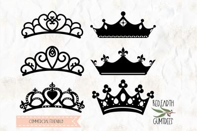 Tiara, crown cut file in SVG, DXF, PNG, PDF,EPS formats