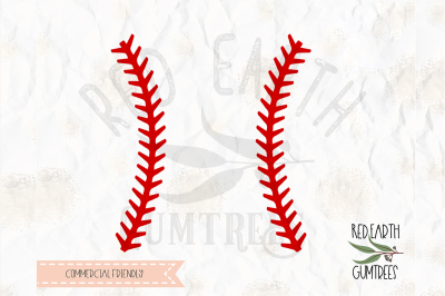 Baseball stitch, softball cut file in SVG, DXF, PNG, EPS, PDF formats
