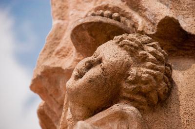 Cherubim a detail of Virgen de Guadalupe Sculpture