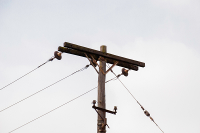 Wooden Electrical Pole