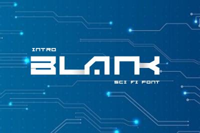 BLANK - Sci Fi Font