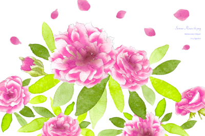 Rose Clip Art Wedding Watercolor Flowers