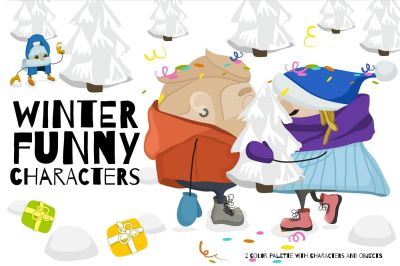 Winter Funny Characters