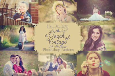 A Touch of Vintage Actions for Photoshop