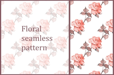 Pattern with roses 12
