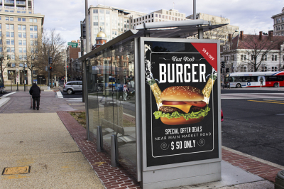Restaurant Burger House Outdoor Banners