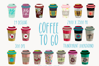 Coffee to go cliparts