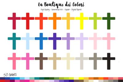 50 Rainbow Cross Clip Art