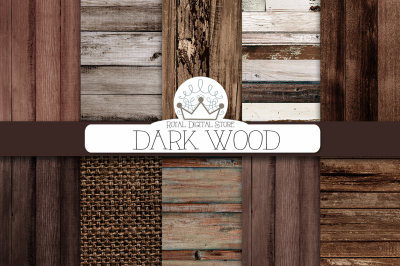 DARK WOOD digital texture