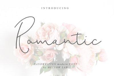 Romantic script
