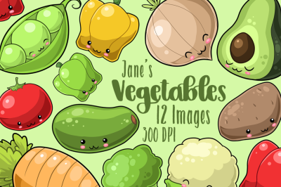 Kawaii Vegetables Clipart