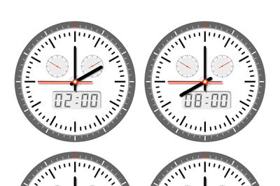 A set of clock  movements
