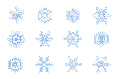 Snowflakes Winter Christmas Clipart