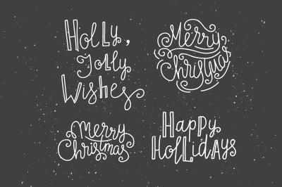 Merry Christmas winter set