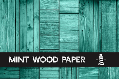 Mint Rustic Wood Backgrounds