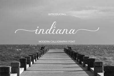 indiana font Script