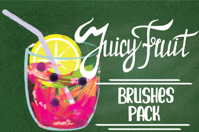 Juicy fruit vector texture brushes