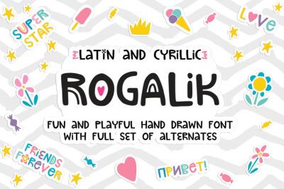 Rogalik Hand Lettered Font