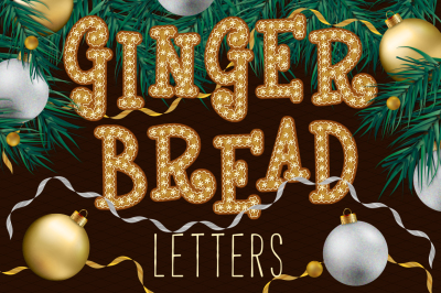 Gingerbread Alphabet and Numbers.