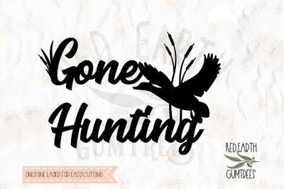 Gone duck hunting, SVG, DXF, PNG, PDF, EPS Cricut, Silhoutte