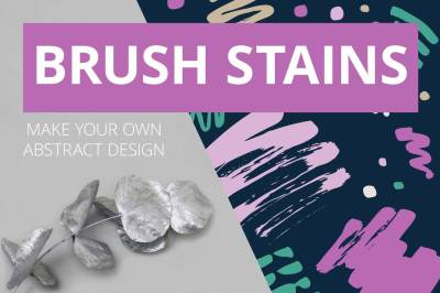 BRUSH STAINS AND SEAMLESS PATTERNS.
