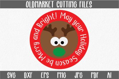 Reindeer Svg Cut File