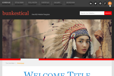 PSD Template Bunkestical website