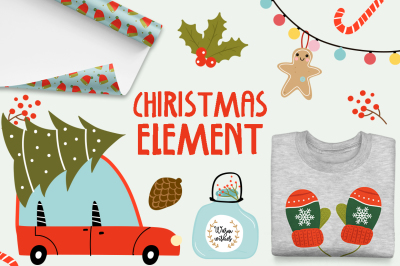 Merry Christmas-Cute elements