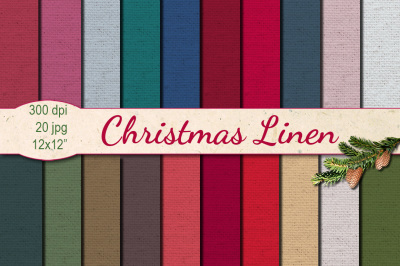 Christmas Linen papers