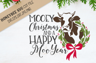 Mooey Christmas Farmhouse SVG