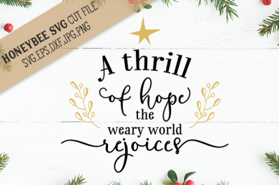 A Thrill Of Hope Christmas SVG