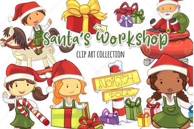 Santa&&23;039;s Workshop Christmas Clip Art