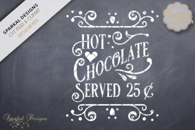 Hot Chocolate Served Cutting File