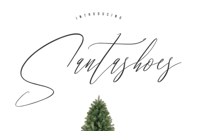 Santashoes Typeface