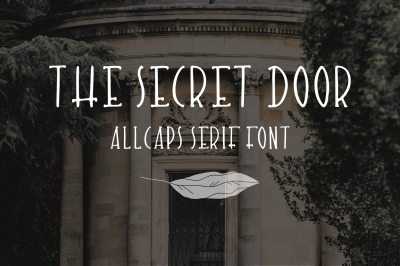 The Secret Door. Cute hand-drawn font.