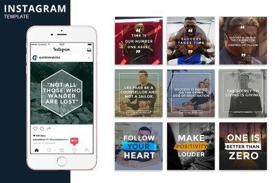 Instagram - Shape Template