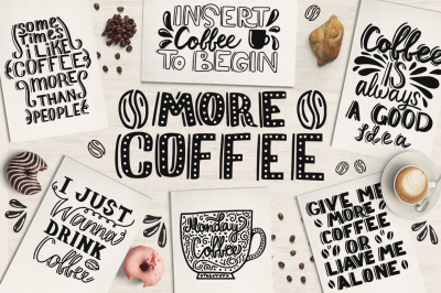 MORE COFFEE-Lettering illustration