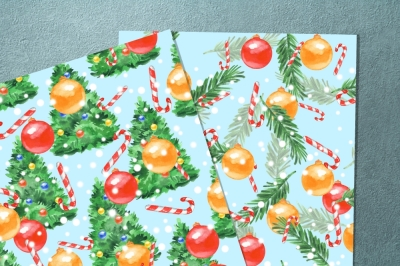 Christmas patterns. Set 2