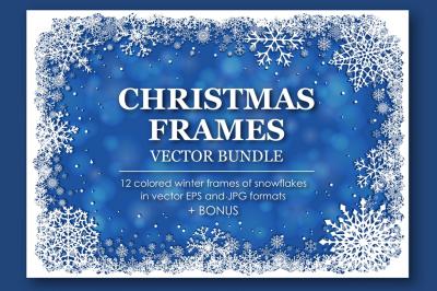 Christmas Frames Huge Bundle. Vector.