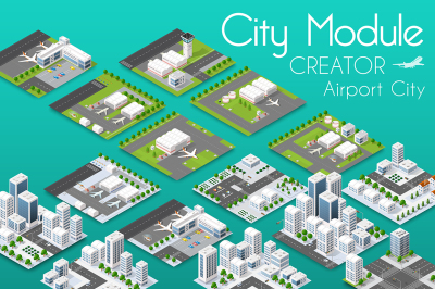 City module creator isometric airpor