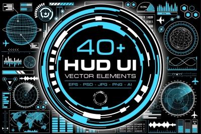 HUD User Interface Elements Set