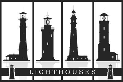 Lighthouses Set (EPS, PSD, JPG)
