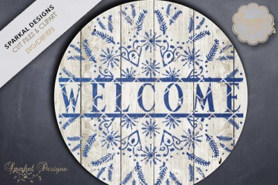 Snowflake Welcome Sign, Cut file
