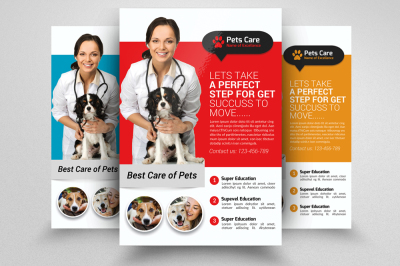 Pets Clinic & Care Centre Flyer Template