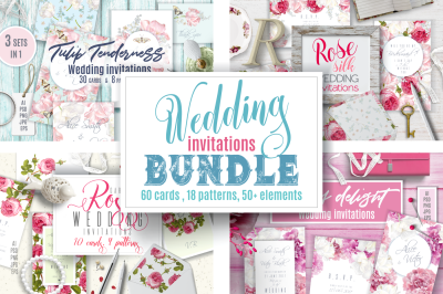 Wedding invitations BUNDLE