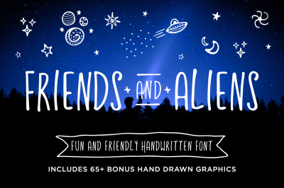 Friends and Aliens Font