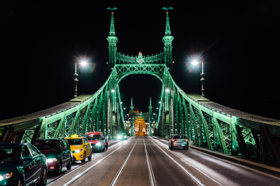 Photo set from 13photos. Old Iron Bridge across the Danube River in Budapest
