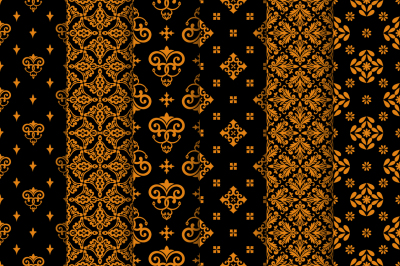 Luxury gold seamless patterns