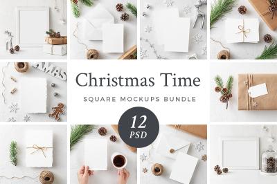 Christmas Mockups Bundle + Freebie