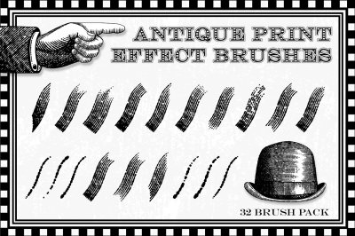 Antique Print Effect Brushes